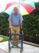 Regenschirm fuer Rollator Rollstuhl