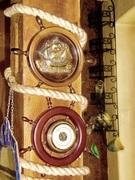 DSCI0007.JPG - maritim steuerrad barometer und segel schiff