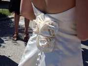 Traumhaft schönes Brautkleid GR 38 - echte Seide- Anprobe in Nürnberg möglich