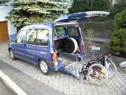 Berlingo zum Rollstuhltransport