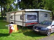 Verkaufe  Wohnwagen Hobbymit Stellplatz und festem