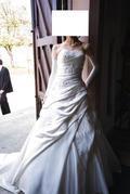 Wunderschoenes Brautkleid Gr.34 mit Schleppe