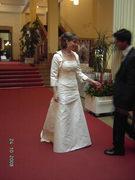 Wunderschönes Corsagen-Brautkleid von Agnes in 38
