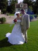 Brautkleid weiße Seide Gr. 38